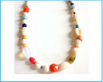 Collier en perles de Boheme vintage