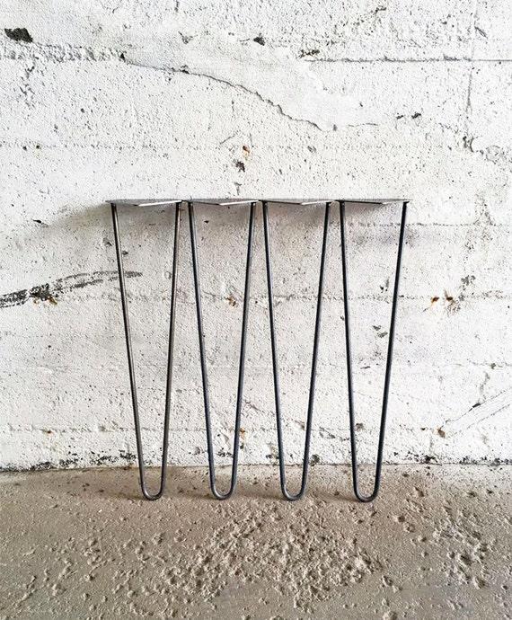 Set Of 4 Hairpin Legs | 4u0027u0027 6u0027u0027 8u0027u0027 10u0027u0027 12u0027u0027 14u0027u0027 16u0027u0027 18u0027u0027 20u0027u0027 | Bench Table  Legs Metal Steel Legs DIY Leg. Made In Montreal
