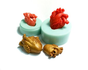 Moulds set #478 - Anatomical heart