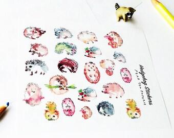 Hedgehog Stickers, Hedgehog Series, Planner Stickers, Weekly Sticker, Art, Erin Condren, Kawaii Hedgehog, Cute Hedgehog Stickers
