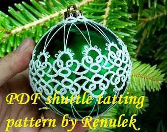 Bubble 3D–2'PDF Original Shuttle Tatting Pattern. Instant Digital Download. Tatting yourself. xmas gift. schemat frywolitki.