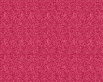 Cranberry Hashtag Small - Riley Blake Designs - White on Cranberry Red - Quilting Cotton Fabric - choose your cut