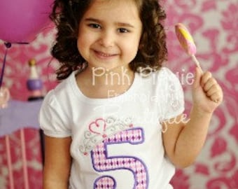 Princess Birthday Applique Shirt