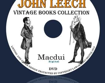 John Leech Vintage Books Collection 10 PDF E-Books on 1 DVD Caricaturist,Illustrator