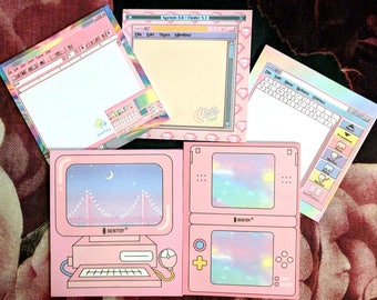 Magical cyber girl notepads