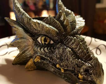 CUSTOM Painted Dragon Head Sphere Holder