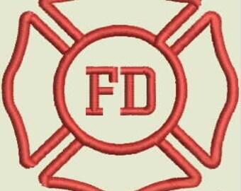 Beer Bottle Cozie or Beer Can Cozie - Fire Department Logo