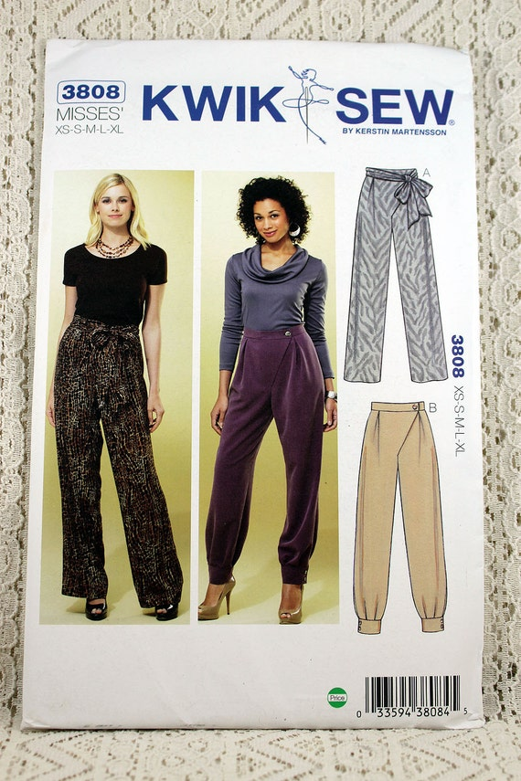 Kwik Sew 3808, Misses\' Pants Sewing Pattern, Wide Leg Pants Pattern ...