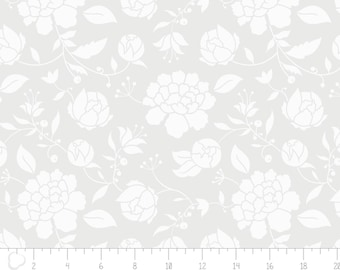 Opalescent - Peony on White from Camelot Fabrics
