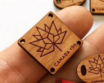 CUSTOM Square Tags-qty 15-0.75x0.75-Custom Tags-Wood Tags