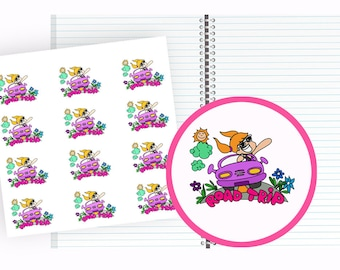 Weekend Stickers, road trip stickers, travel journal stickers, trip planner stickers, weekend planner stickers, weekend road trip planner