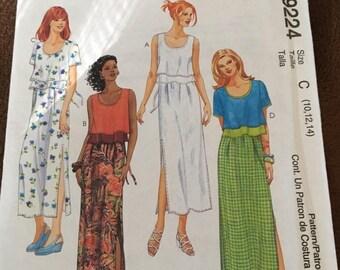 McCalls 9224 Dress Pattern  Size 10 - 12 - 14