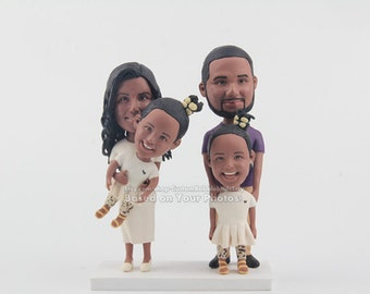 Gifts for Family- Personalized Gifts for Family, Housewarming Gift , Custom whole family bobblehead, whole family Christmas gift ideas