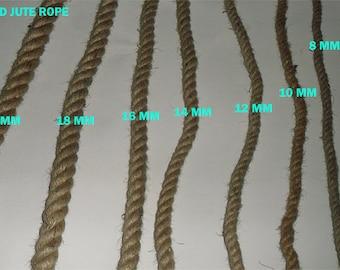 8 mm Jute Cord Natural - 1 Spool - 5 yards
