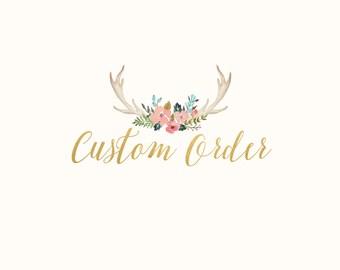 Custom Order For Sarah Stratton