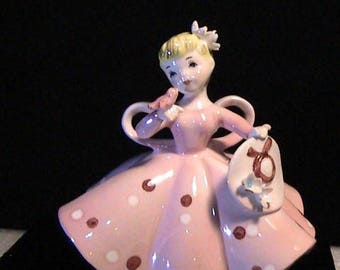 Pretty in Pink Ceramic Figurine
