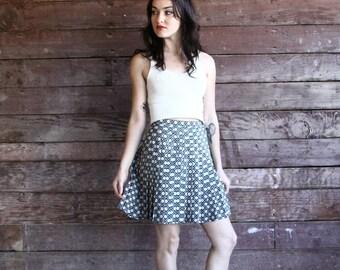 high waisted skirt - 90s floral pleated skirt - black and white mini skirt - cheerleader tennis skirt - small 1 / 2
