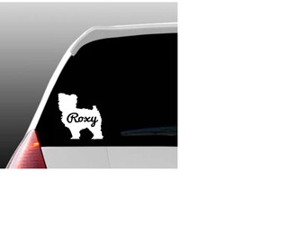 Personalized Yorkipoo Car Window Decal