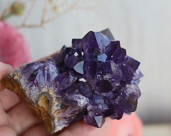 High grade dark purple amethyst flower