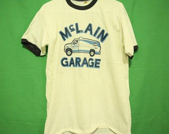 70s/80s McClain Garage IGA Retro Vintage T-Shirt Large Russel Made in USA 1980s 1970s Youngstown Ohio