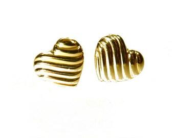 Heart Earrings Gold ear studs earrings, children's jewellery 333 Strcker earrings