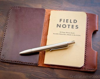 BUILD-YOUR-OWN - Pocket Notebook cover + pen sleeve for Field Notes and others