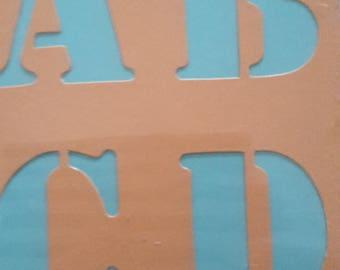 Alphabet stencils numbers