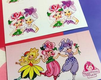Rose Petal Place Stickers & Magnet (Set)