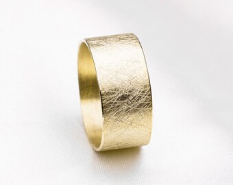 Wide band Ring, Wide silver Ring, wide ring, Gold wedding Ring, Wide Band Gold Ring, Textured Ring, engagement ring, 14K Gold Plated Ring