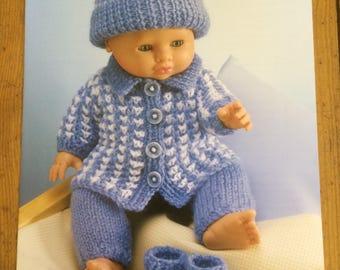 Sirdar Doll Double Knit Knitting Pattern 3124