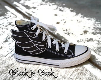 Shoe Wings - Black is BACK  - for YouR SupeR HerO