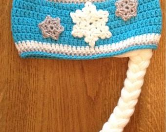 Crocheted Frozen themed Elsa hat
