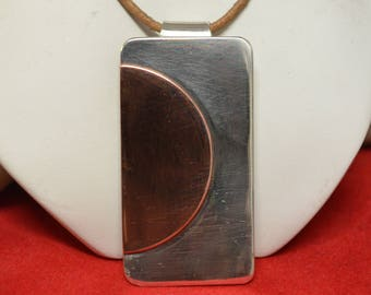 An argentium Silver and Copper Pendant