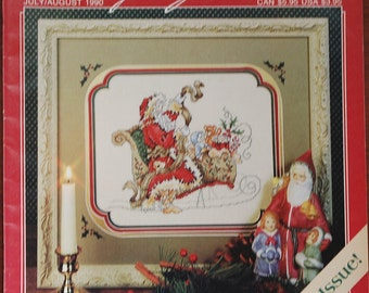 Stoney Creek Cross Stitch Magazine - July/August  1990 - Christmas Isssue - Volume 2 - Number 4 - 30 Pages