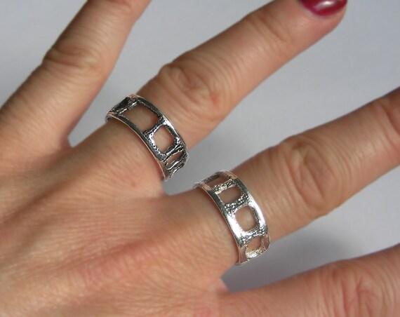Lacy Silver Shark Vertebra Ring