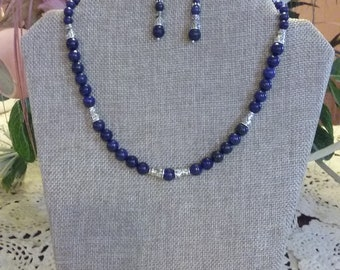 Blue Lapis Necklace and Earrings