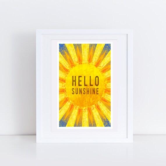 Hello Sunshine - Signed print