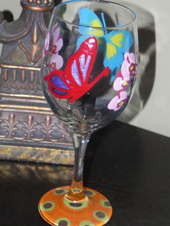 Butterfly Wine Glass