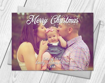 Personalised Photo Christmas Cards | Merry Christmas Postcards & Envelopes
