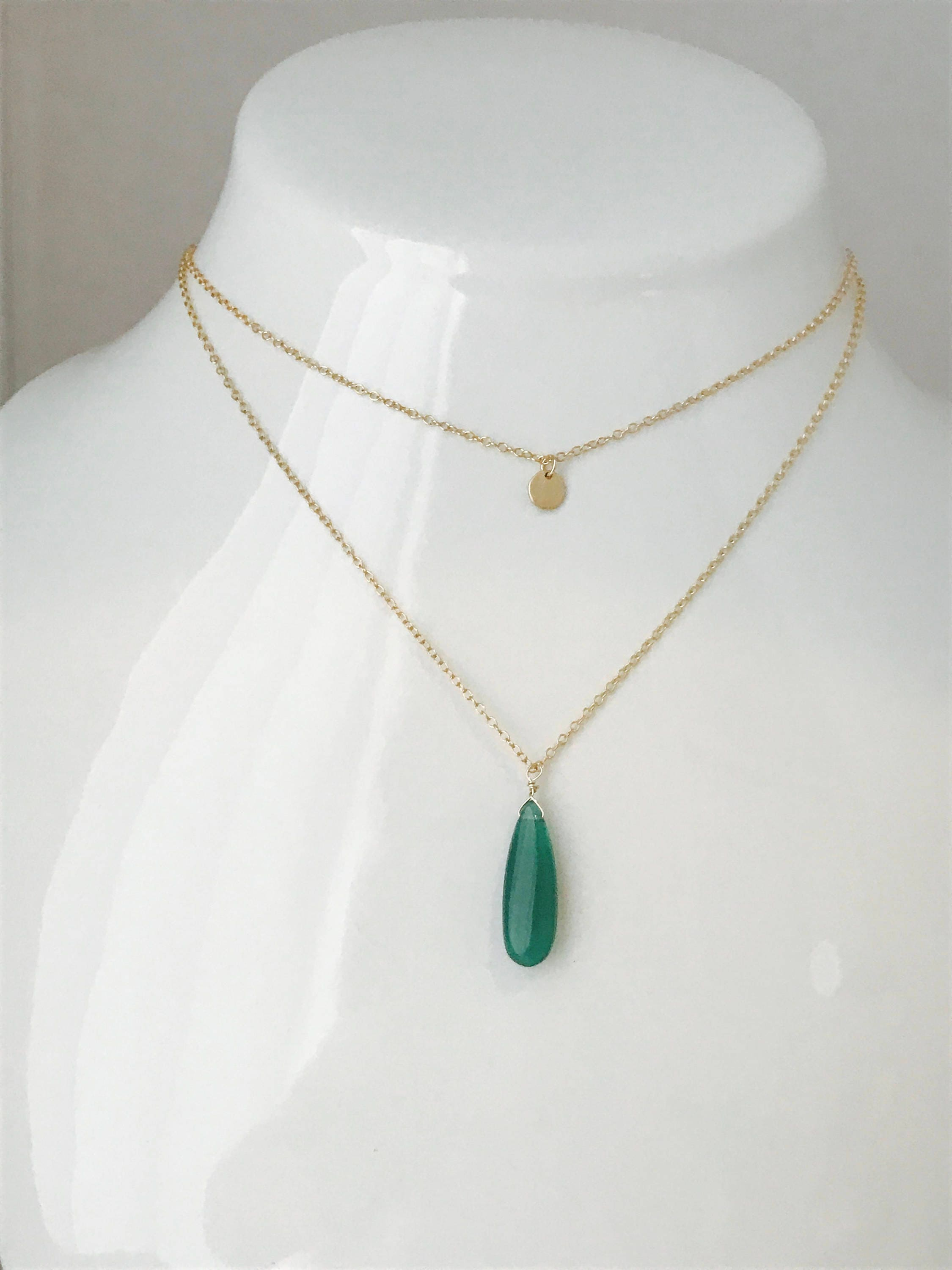 vi jube products green gold onyx connie faceted and necklace