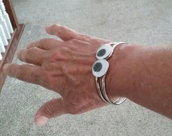 googly eye bangle bracelet