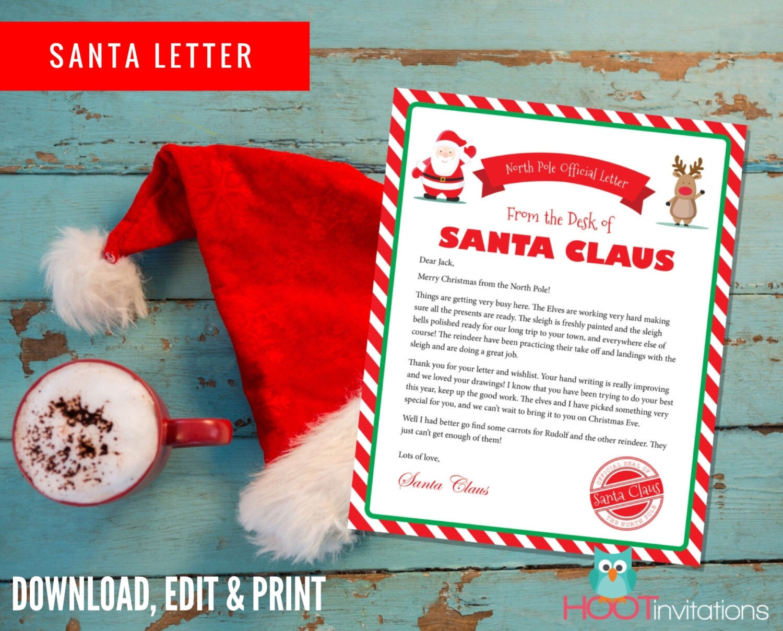 Letter from santa christmas letter santa letter gift idea zoom spiritdancerdesigns Gallery