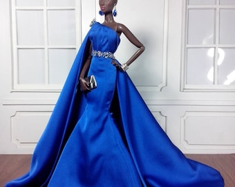 """LADY IN BLUE - Fashion for Fr2, Barbie, Silkstone and same size 12"""" doll"""