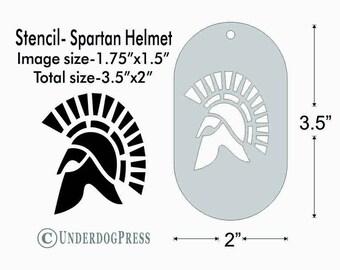 Stencil - Spartan Helmet, Medium