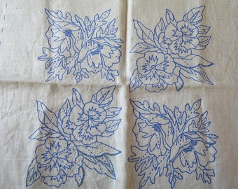 Vintage Crewel Pillow Kit Pauline Denham Pansies and Poppies Pillow Ready to Complete DIY Crewel Embroidery Pillow Kit 14 x 14 inch