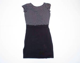 Vintage style short sleeve polka dot dress