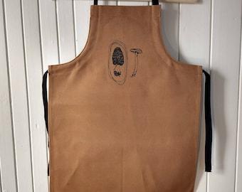 Scalable apron, apron for child apron apron Morel mushroom