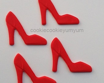 12 edible HIGH HEEL stiletto SHOE cake decoration princess girl fashion cupcake wedding topper decoration party wedding anniversary birthday