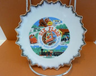 Six Flags Over Mid - America, Wall Art, Collectible Plate