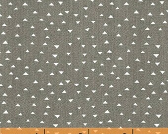 ATLAS - Mini Pyramids in Steel Grey - Gray Geometric Cotton Quilt Fabric - Another Point of View for Windham Fabrics - 42300-6 (W3831)